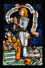 ca. 1475-1485 - 'knight of the von Fleckenstein family' (workshop of Peter Hemmel von Andlau), Strasbourg, glise Saint-Georges, Haguenau, dp. Bas-Rhin, Muse de Cluny, Paris, France (roelipilami) Tags: paris church window glass saint st museum de gothic von hans muse stained strasbourg peter vitrail knight glasmalerei chevalier jakob jacques armour georges cluny atelier ritter hemmel andlau 1485 armure rstung haguenau glasraam donor strassburg harnas 1470 fleckenstein 1514 1475 1480 1483 stifter donateur