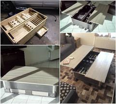 Table Basse Multifonctions / Multi-purpose Pallet Coffee Table (irecyclart) Tags: livingroom modular pallettable repurposedpallet