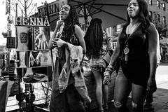 (feldmanrick) Tags: street urban blackandwhite bw woman monochrome fuji candid streetphotography fujifilm unposed decisivemoment rickfeldman