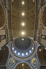 Cupola, Arches and ceiling (Fairy_Nuff (new website - piczology.com!)) Tags: italy vatican rome roma saint st san basilica main arches ceiling cupola dome peters pietro