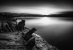 Wigg Island (20 of 3) (andyyoung37) Tags: uk longexposure sunset england reflections blackwhite cheshire unitedkingdom gb runcorn merseyside boatwreck