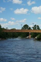 Bridge (justinsikes242) Tags: park bridge summer nature water landscape pond indiana hummel plainfield