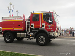 Fire Truck - Bastille Day Parade Nice France (WanderingPhotosPJB) Tags: red france fire nice engine parade firetruck bastille img bastilleday