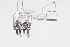 Patroller Powder-coating (JonPac) Tags: winter white snow ski mountains colorado lift transport first safety skilift snowboard snowing blizzard whiteout patrol summitcounty arapahoebasin 2015 jonpaciaroni
