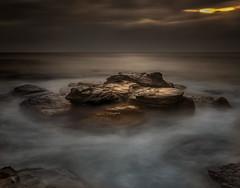 Golden Rock (Tim_Matthews IG @T.M_Photos) Tags: ocean cloud seascape beach water rain clouds sunrise grey rocks sydney australia newsouthwales 2014 northernbeaches collaroy 2016 midtide focusaustralia timmatthewsphotography