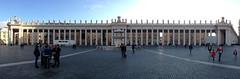 Centro Del Colonnato (Luke's Freebies) Tags: trip italy panorama europe pano columns vaticano stpeterssquare bernini vaticancity iphone piazzasanpietro colonnato