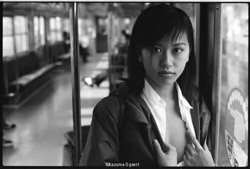 1998.11.30 chika (kazumaogaeriMOSO) Tags: japan train braless japaneasegirl kazumaogaeri