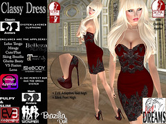 Classy Dress red (mysticdreams0607) Tags: eve red texture evening design outfit highheels different dress lace formal sensual latest newest recent apparel physique maitreya slink casualsexy highfeet evemesh