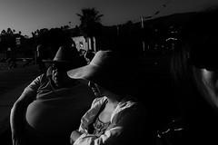 Untitled (ajkpix) Tags: california park street people urban bw woman man losangeles candid highcontrast