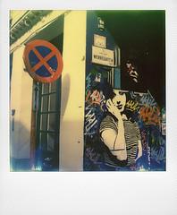 Werregaren Straat (Gent) (@necDOT) Tags: streetart polaroid sx70 graffiti ghent gent gand impossibleproject color600