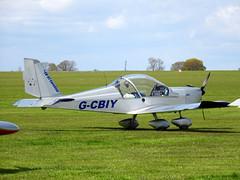 G-CBIY Aerotechnik EV-97 Eurostar cn PFA 315-13846 Sywell 23Apr16 (kerrydavidtaylor) Tags: eurostar