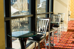 I'll meet you here for coffee HWW (Irina1010) Tags: windows marriott table hotel cafe chair sunny baltimore indoors hww
