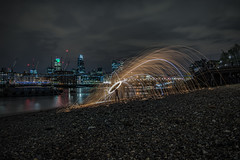 City LE 5 (FurtiveOutsider) Tags: city uk england london eye wool wheel st thames night river landscape photography wire nikon long exposure cathedral steel capital landmarks pauls bbc whee instagram instameet london4all ldn4all