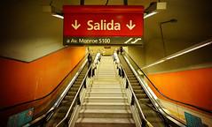 #93. Salida. (adscvr) Tags: stairs underground metro subte salida exit escaleras lneab voigtlandersuperwideheliar15mmf45 juanmanuelderosas