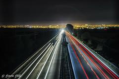 Highway (Simone Stella) Tags: light cars car nikon highway long exposure 1750 tamron f28 d5100