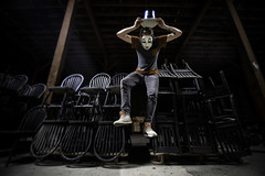 (legaryphotography) Tags: show wild canada abstract art abandoned hat photoshop dark photography photo mask chairs circus floating levitation creepy sharp masks wicked float creep photooftheday urbex picoftheday levitate urbexontario allsharp