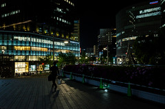 in front of Nagoya Terminal Station (kinpi3) Tags: japan night cityscape nagoya gr ricoh  meieki