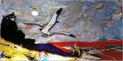 """Oeuvre d'aprs Hugo Pratt, Florent Touchot, exposition """"Affordable Art Fair"""" Tour et Taxis, avenue du Port, Bruxelles, Belgium (claude lina) Tags: brussels art belgium belgique bruxelles exposition oeuvre tourettaxis affordableartfair claudelina"""