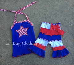 4th of July 2 (Lil' Bug Clothing) Tags: top 4th july short chevron halter