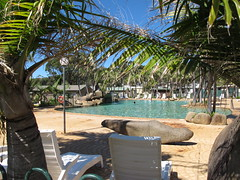 eack chairs and pool at Merry Beach (spelio) Tags: park camping camp pool palms relax coast chairs australia resort tm nsw caravan 2016