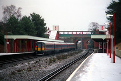2408, Pokesdown, January 4th 1997 (Southsea_Matt) Tags: station train railway emu poole southwesttrains londonwaterloo 2408 networksoutheast plasticpig class442 pokesdown 5wes 442408