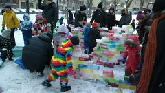 Building a rainbow ice castle (hugovk) Tags: cameraphone winter building castle ice finland nokia rainbow helsinki january hvk talvi carlzeiss 2016 uusimaa 808 helsingin hugovk geo:country=finland camera:make=nokia pureview exif:flash=offdidnotfire exif:exposure=125 exif:aperture=24 nokia808pureview exif:orientation=horizontalnormal camera:model=808pureview geo:locality=helsinki uploaded:by=email exif:exposurebias=0 exif:focallength=80mm exif:isospeed=200 geo:region=uusimaa geo:county=helsingin meta:exif=1452455686 buildingarainbowicecastle