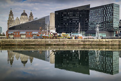 BRY_20151015_IMG_7761_ (stephenbryan825) Tags: reflection water liverpool buildings dome threegraces hdr albertdock royalliverbuilding portofliverpoolbuilding selects mannisland