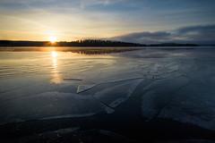 Lake is Freezing (@Tuomo) Tags: sunset lake cold ice finland landscape nikon df january wideangle nikkor scandinavia jyväskylä päijänne kärkinen feezing korpilahti 1424mm kärkistensalmi