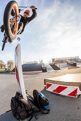 Marko ido | 180 over (Marin Lonar) Tags: winter sports bike canon bmx europe extreme bikes osijek croatia sunny fisheye skatepark skate extremesport t3i 2016 600d pannonian pannonianchallenge rokinon8mm huge180