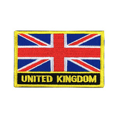 United Kingdom Flag Patch Embroidered Patch Gold Border Iron On patch Sew on Patch Bag Patch (edwardCepheus) Tags: gold iron flag united border nation kingdom sew patch patches embroidered