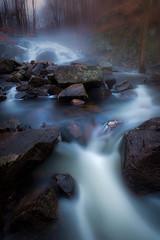 Waterfall during rain (Dan NYNJ) Tags: longexposure mist newyork color fog waterfall rocks stream wideangle hudsonvalley harrimanstatepark