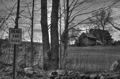 Dead End Road.#12 (Crick3) Tags: winter barn mono farm newengland cheers chuck cheers2 cheers3 cheers4