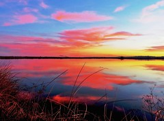 Wildlife Refuge Sunset, California (moonjazz) Tags: california pink sunset sky color reflection clouds spectacular photography amazing perfect pacific horizon wetlands wilderness preserve goldenhour naure flyway sacramentonationalwildliferefuge