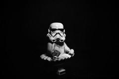 (Silverio Photography) Tags: blackandwhite photoshop canon toy starwars lego elements stormtrooper pancake minifig vignetting topaz adjust 24m 60d
