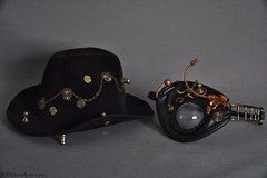 Taeyang Gyro's Stock Hat & Eye Mask (EternallyRose) Tags: hat cowboyhat aga gyro steampunk eyemask taeyang graybackground arsgratiaartis dollaccessories stockaccessories taeyanggyro nikond750 afsnikkor24120mmf4gedvrlens taeyangsteampunkprojectgyro