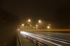 Porter Trails (Beau Finley) Tags: city winter bus weather fog night dc washington districtofcolumbia february atnight lighttrail clevelandpark beaufinley