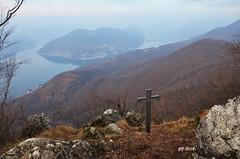 il Ceresio dal Monte Orsa (gbistoletti) Tags: panorama trekking lago italia nuvole di svizzera nebbia lombardia lugano ceresio boschi provinciadivarese