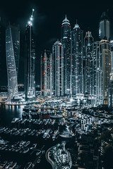 Dubai Marina (sam_taha) Tags: night dubai cityscape cinematic unitedarabemirates dubaimarina
