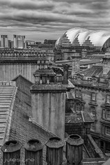 """Potty"" (julesureo) Tags: blackandwhite clouds canon river newcastle landscape mono rooftops overcast sage northeast rivertyne chimneypots canon550d"
