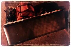 Luggage (Kevin Borland) Tags: newyorkcity newyork chelsea manhattan luggage midtown curb guitarcase