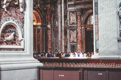 Basilica di San Pietro in Vaticano (Paula.HK) Tags: italy vatican film church architecture photoshop vintage 50mm nikon europe catholic cathedral basilica vaticano catholicchurch      tavel lightroom      basilicadisanpietroinvaticano   vsco
