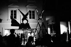 Midnight Artist (Markus Ortner) Tags: street film analog darkroom blackwhite clown krnten carinthia tmax400 performer konicahexarrf klagenfurt ilfotechc vc3517 altstadtzauber voigtlnder35mm17 vcultron3517