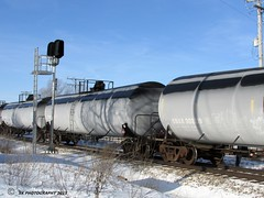 Frosted Tank Cars Between Apple River and Warren,IL (skeen123) Tags: train frosted tankcars