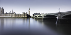 Westminster Palace & Big Ben (Joel Tjintjelaar) Tags: london housesofparliament bigben vision londonskyline westminsterpalace longexposurephotography 24mmtse joeltjintjelaar tiltandshiftpanorama formatthitechfirecrest16stopsndfilter
