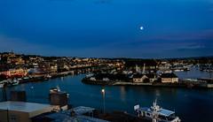 Moonrise Trouville (atorphoto) Tags: france harbor coastal moonrise manche trouville