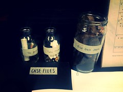 Site samples (paula.calleja12) Tags: tickets lottery research samples jars entangled
