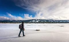 Walk on ice. (mnlphotography) Tags: bear travel winter lake snow mountains ice landscape big adventure bigbear bigbearlake