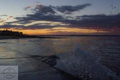 The setting sun over Portobello Beach (Created Eye Photography) Tags: sunset sea seascape beach water canon edinburgh waves forth portobello canon550d