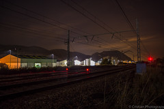 Train (Cristianphotography) Tags: city urban night train tren noche spain nikon paisaje nocturna gandia vias largaexposicion longexposition vacias d5200 nikond5200