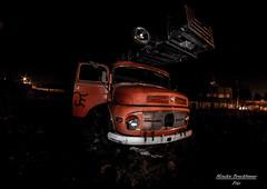 Feuerwehrauto (brucki08) Tags: old salzburg lost mercedes creepy firetruck rost feuerwehr rostig verlassen nachts